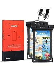 AOWIN TPU Funda Impermeable IPX8 Universal Waterproof case para los deportes acuaticos para iPhone 7/6/6S Plus, Samsung S6/Edge/S5/S4 hasta 6 pulgadas.
