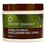 Desert Essence Disques de coton nettoyants à l'huile essentielle d'arbre à thé, 50 disques