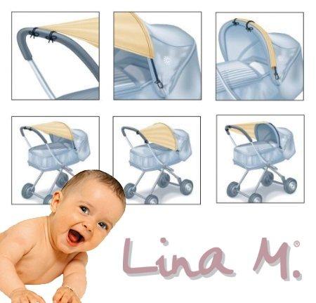 tendina parasole Lina M.® per carrozzine, Passeggini pieghevoli e passeggini (blu chiaro)