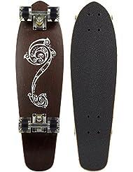 """Ridge Polynesia Longboard 27"""" mini cruiser skate 69cm planche a roulettes en bois d'erable avec 12 couleurs de roues"""