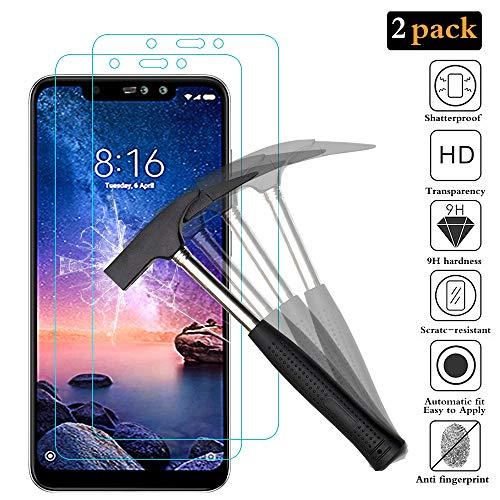 ANEWSIR [2 6 PRO Xiaomi redmi Notas vidro temperado, Protective Film Xiaomi redmi Notas 6 PRO, Xiaomi redmi Notas 6 PRO protetor de tela de vidro temperado para 9H Dureza garantia vitalícia.