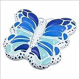 XINGMU Schlauchboot auf Dem Wasser Schwimmend Aufblasbaren Flügeln auf Wasser Schwimmen und Schweben Schmetterling Schwebendes Bett Beach Bed. Weiß Schmetterling