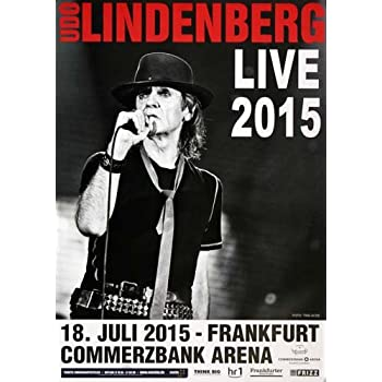 Amazonde Udo Lindenberg Live In 2015 Konzertplakat Konzertposter