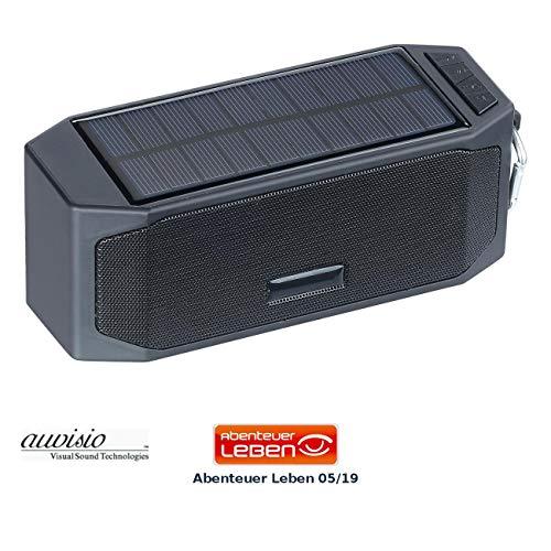 auvisio Outdoor Lautsprecher: Solar-Lautsprecher mit Bluetooth-3.0, Freisprecher, Powerbank, 12 Watt (Solar-Powerbank mit Musikplayer)