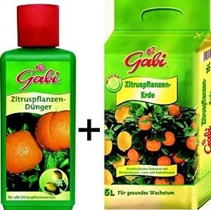 Zitruspflanzen-Erde15 l + Zitruspflanzendünger 500 ml als Sparpaket