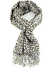 Fabelhafte Groß Weich Pashmina Schal mit Leopardmuster