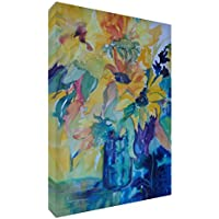 Feel Good Art-Tela con-Gallery Wrapped con pannello frontale, 60 x 40 x 4 cm, misura grande, motivo: Bouquet, colore:
