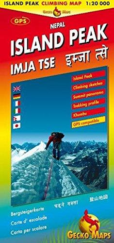 Island Peak /Imja Tse. Climbing Map /Bergsteigerkarte. 1:20'000 Island Peak, Climbing sketsches, Summit panorama, Trekking profile, Khumbu, GPS compatible1:1,6 Mio. Monasteries, Pilgrimage, Sacred Places,  GPS-Compatible / Index