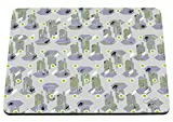 hippowarehouse modernes Kaktus Muster bedruckt Mauspad Zubehör Schwarz Gummi Boden 240mm x 190mm x 60mm, grün, Einheitsgröße