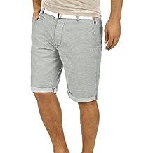 Blend Quantigo Herren Chino Shorts Bermuda Kurze Hose Mit Gürtel Und  Streifen-Muster Aus 100 d9a7752eb7