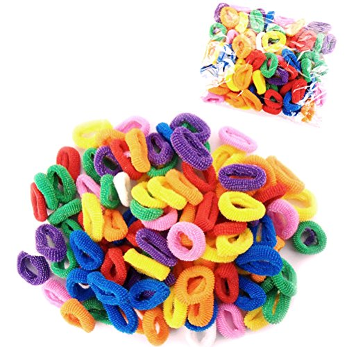 LEORX 50stk Haar-Bobbles für Mädchen-Bands Mini Baby Zöpfchen elastisch dehnbar Haarbänder  (zufällige Farbe)