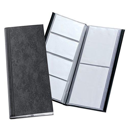 Elba Elégance - Álbum para tarjetas de presentación (capacidad para 80 tarjetas), color negro