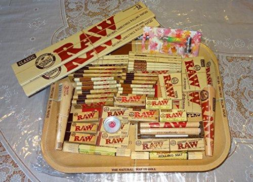 Raw Deal, Jumbo, B)-Vassoio grande in metallo con tutti i prodotti grezzi piena e un regalo perfetto per te o i, venduta Trendz