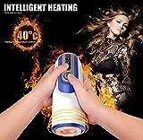 LJQ MAO Male Massager Cup, apparecchiature per l'allenamento Elettrico Maschile 6 modalità di Riscaldamento Attrezzature di Massaggio di Vibrazione, Regalo di Lusso Super Party