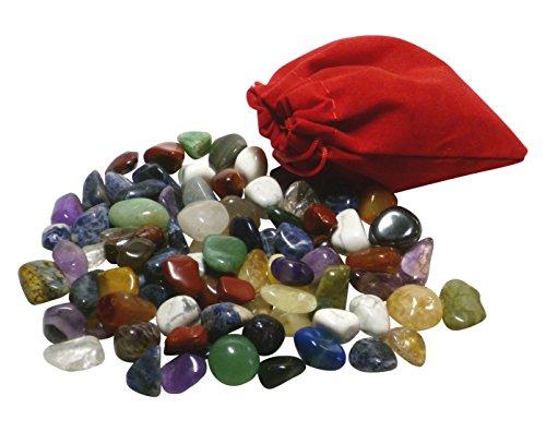 AMAHOFF | 85 Edelsteine | schönen Stoffsäckchen | für Hus, Bao und Kalaha | Gratis-Anleitung (Regelmäßige Mischung)