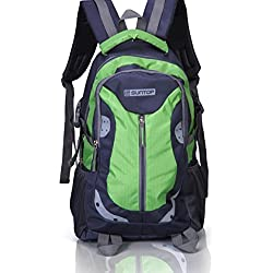 Suntop Neo 9 26 Ltrs Grey & Green Checks Unisex Backpack