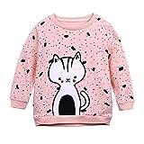 Shopaholic0709 Babykleidung,(12M-5T) Kinder Langarm-Kätzchen Printed Pullover Top Rundhals Baumwolle Baby Strampler Bedrucken Baby Baby mädchen und Junge