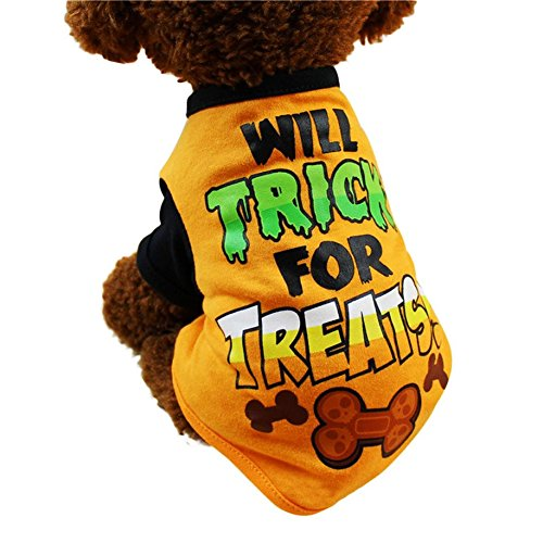 huifengs Hund Shirt Halloween Ghost Kleidung Cute Pet Puppy Polyester (Ghost Billig Kostüme)