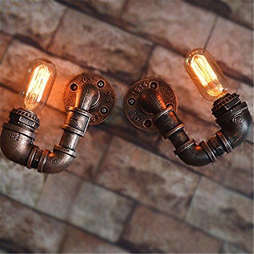 LIYAN minimalistische Wandleuchte Wandleuchte E26/E27 Bügeleisen antik Rohre die Creative Industries, die personalisierte Wandleuchte 2 Combo hängen (Decke-wand-combo)