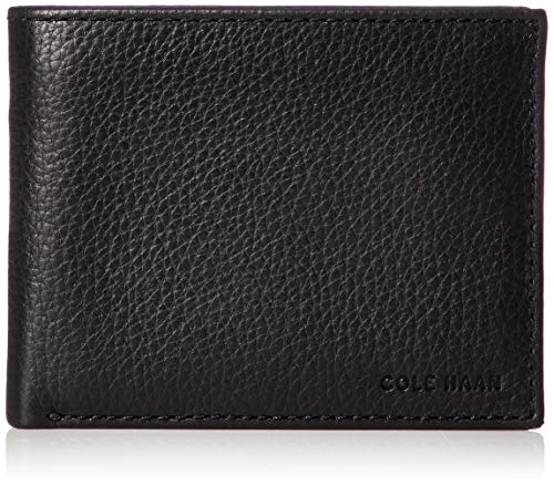 Cole Haan Herren Matthews Bifold Wallet with Passcase Zweifalten-Geldbörse, schwarz, Einheitsgröße - Schwarz Leder Wallet Passcase