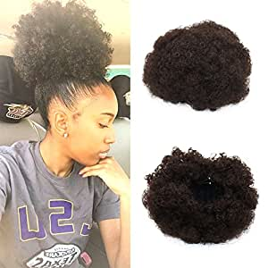 Synthetic Curly Wave Hair Clip In Ponytail Short Afro