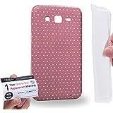 Case88 [Samsung Galaxy Grand 2] Gel TPU Carcasa/Funda & Tarjeta de garantía - Art Coloured Doodle Patterns Pink Dot Art1407