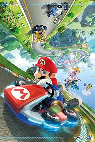 Preisvergleich Produktbild Poster Mario Kart 8 - Mario in Aktion - Größe 61 x 91,5 cm - Maxiposter