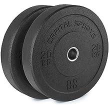 CapitalSports Renit Hi Temp Discos de Peso 50,4mm Nucleo de Aluminio Goma 2x20kg (