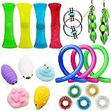 AWOME Sensoriska leksaksuppsättningar, sensoriska fidget-leksaker, bunt sensoriska leksaker, uppsättning sensoriska terapileksaker för ADHD, autismstressangst, fidget-leksaker för barn och vuxna,20st