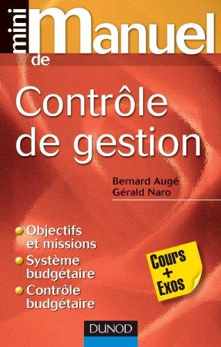 Mini manuel de contrôle de gestion par Bernard Augé