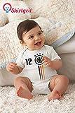 Fussball WM 2018 Deutschland Nationalmannschaft Baby Body Kurzarm-Body 0 - 3 months Weiß - 2