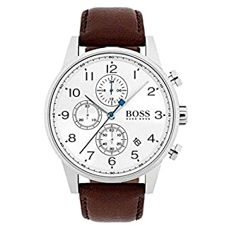 Hugo BOSS Reloj Cronógrafo para Hombre de Cuarzo con Correa en Cuero 1513495