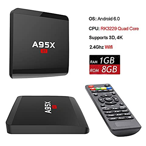 ANTSIR R1 Android 6.0 TV Box Amlogic Rockchip RK3229 Quad-Core Cortex A7 1.5GHz 32bit 4K Google Smart Media Player WiFi- HDMI von ANTSIR