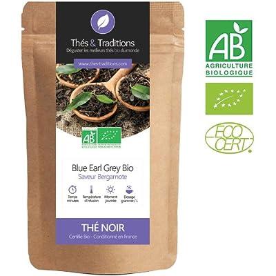 Blue Earl Grey - Thé noir Bio | Sachet 100g vrac | ? Certifié Agriculture biologique ?