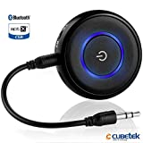 #10: Cubetek 2 in 1 Bluetooth V4.1 Transmitter & Receiver, wireless 3.5mm adapter, for TV, PC, iPod, PSP, Playstation, Car Stereo, Support aptX Low Latency, Connect 2 devices at once, designed for Home & Car Audio System. Model: CB-BTI-018