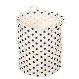 LAAT faltbar rund Wäschekorb SALE Breite Baumwollstoff Wäschekorb Aufbewahrungsschuppen mit Griff – 13,7x15,7