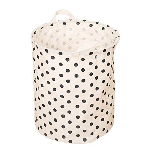 aloiness Fashion Dot Aufbewahrungskörbe großen Wäschesammler Spielzeug Aufbewahrungstasche Kleidung Make-up-Organizer faltbar Korb Tasche Home Dekoration (Make-up-korb)