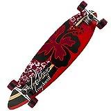 Best Longboards - Voltage longboard complete skateboard Hibiscus Flower Red 38 Review