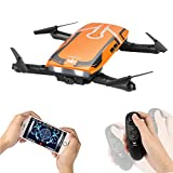 Drone con cámara HD, H818 RC Plegable Mini Drone Wifi FPV Drone 720P HD Juguete Quadcopter 6 ejes Gyro Altitud Hold RC Quadcopter RTF , Regalos de Para Niños, Adultos