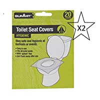Thermal Mule Bundle - Summit Festival/Camping Toilet Seat Covers Pack of 20-2 Packs of 20 Supplied