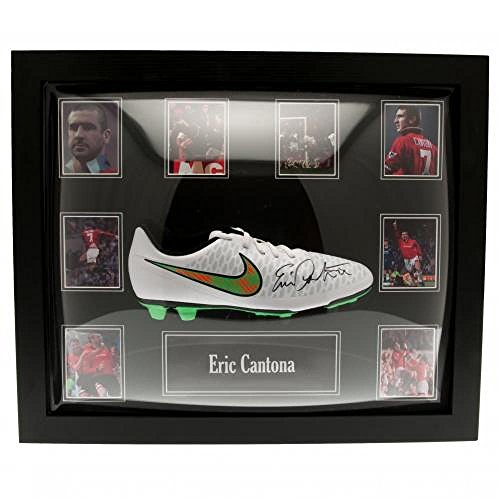 Manchester United FC Official Football Gift Cantona Signed Boot (Framed) – A Great Christmas / Birthday Gift Idea For Men And Boys