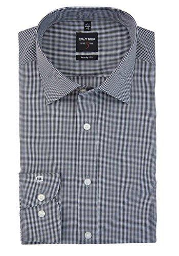 Level Five Body Fit - Camicia a maniche lunghe, da uomo K9 nero/grigio a quadri