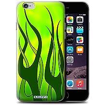 Stuff4 Hülle / Hülle für Apple iPhone 6S / Grün/Kalk Muster / Flamme Lackierung Kollektion