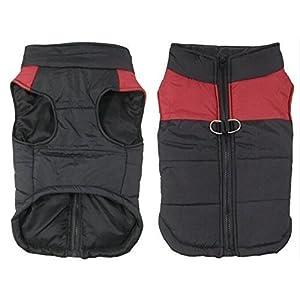 SUPEREX® Pet Dog Coat coats Jacket Hundemantel wasserdicht Winterjacke,Regenmantel Hund Hundebekleidung Hundejacke Warm Wintermantel gepolstert (Rot,S)