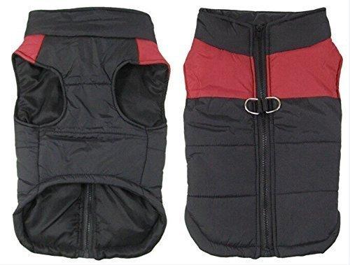 SUPEREX® Pet Dog Coat coats Jacket Hundemantel wasserdicht Winterjacke,Regenmantel Hund Hundebekleidung Hundejacke Warm Wintermantel gepolstert (Rot,XL)