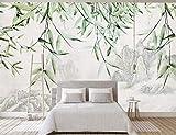 HONGYUANZHANG Tinte Landschaft Bambus Tapete Des Foto-3D Künstlerische Landschafts-Fernsehhintergrund-Tapete,56Inch (H) X 88Inch (W)