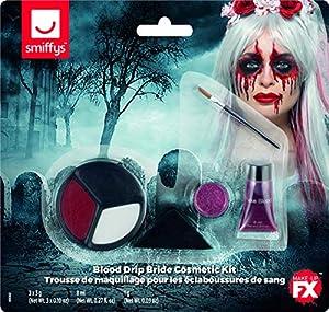 Smiffys Blood Drip - Kit de maquillaje para novia, color azul