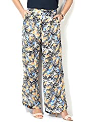 Allen Solly Womens Tapered Pants (AWPN316C00155_White with Black_30)