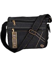 fc5b681acf790 Canvas Messenger Bag Umhängetasche Schultertasche Unitasche Schultasche  Casual Freizeit Tasche Für Arbeit Schule Uni