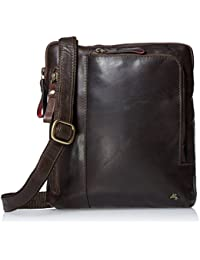 Visconti Buffalo Leather Messenger Bag Shoulder Crossbody Bag Handbag, Brown, One Size